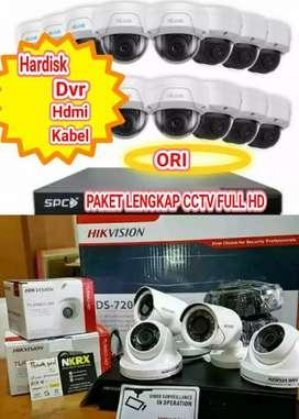 PAKET LENGKAP CCTV FULL HD, BISA ONLINE DI HP