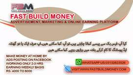 Marketing,online earning on facebook and olx