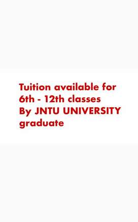 I'm a Btech graduate from JNTU University. Willing to teach for 6-12th