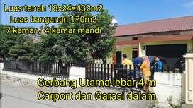 Rumah Asri Luas 170/432 m2 Cocok Buat Rumah Mewah atau Kostan