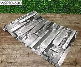 Wallpaper sticker motif batu alam