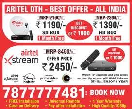 Buy New Dth Settop Box Airtel Dth xstream Box free dth tata sky