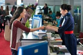 Airport ticket agent and customer services