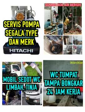 Jasa Service Pompa Air,Buat Sumur,Sedot WC,WC Tumpat,Pasang Intalasi.