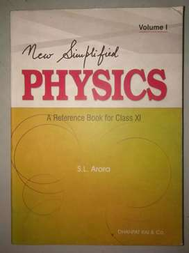 S.L Arora Physics reference book (vol-1)for class 11(H.S first year)