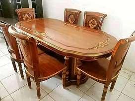 Meja makan full kayu jati