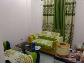 Fully furnished studio with AC fridge bed mattress led with pannel