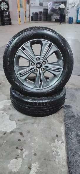 """17"""" Creta/114×5 (Original Alloys)/215-60-15(Bridgestone) Tyres"""