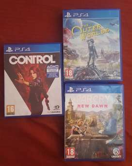 PS4 GAMES. Control. Outer Worlds. New Dawn