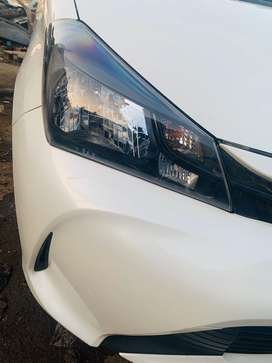 Vitz 2015 end registered 2019 end pearl white push start