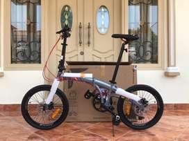 Sepeda Lipat Wimcycle Pocket Rocket Grey 20inch