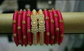 Hand made silk thread jwellery for sale