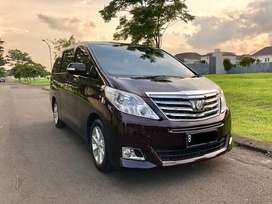 Toyota Alphard G ATPM 2012 Special Color Red Wine