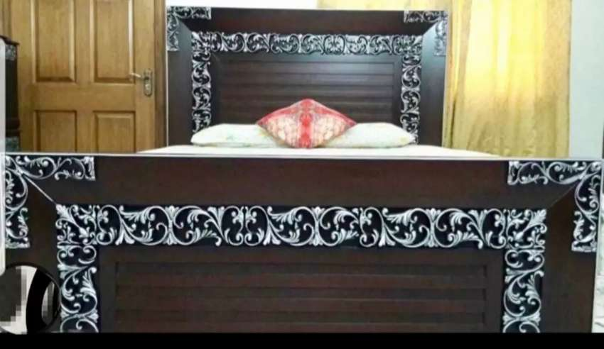 Fancy Silver Brown Bedset and other house furniture 0