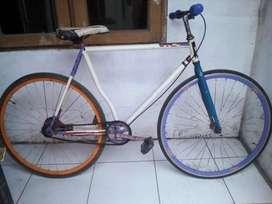 Sepeda fixie warna putih