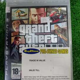 Game BD Original PS3 Playstation 3 Grand Theft Auto IV - Used