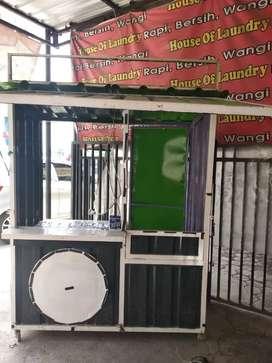 Booth container galvalum murah