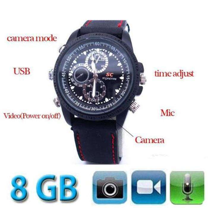 SpyCam Analog Jam Tangan Spy Watch Camera Kamera Video pengintai r14 0
