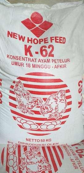 KONSENTRAT AYAM PETELUR KOSENTRAT PETELOR PAKAN NEW HOPE K62