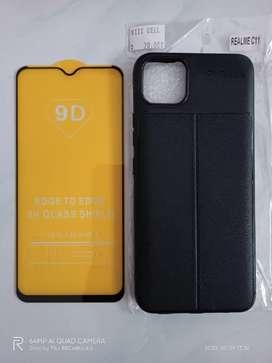 Realme C11 C12 C15 Tempered Glass Softcase