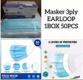 Masker biru 3 fly  murah