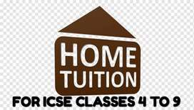 Home tutions for icse students classes 4 to 10 .