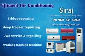 Ac, refregeration, washing machine& geezer sales and service