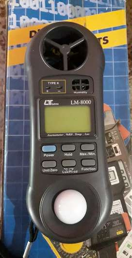 Lutron LM 8000 alat tes humidity anemometer lux meter thermomoter