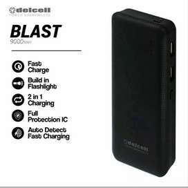 Powerbank Delcell Blast 9000mAh (Black) New