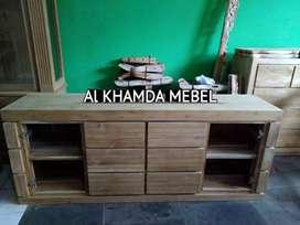 Ready Buvet Tv Minimalis Bahan Kayu Jati Monggo @368
