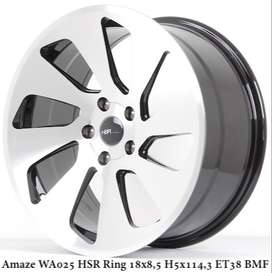 ring18 lubang5 velg racing HSR WHEEL - AMAZE WA025 HSR buat alphard