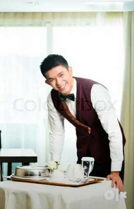 Service boy for hotel and Payment on time