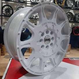 velg rally hsr ring 16 warna putih limited edition 8x100-114,3 - Putih