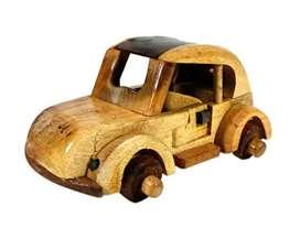 miniatur kayu VW kodok besar dan kecil