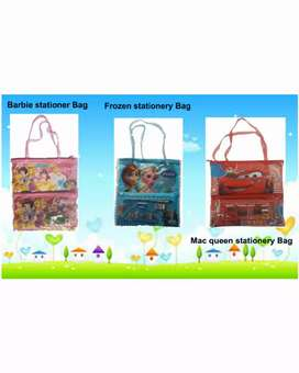 Car frozen barbie stationery bag with Drawing Book.