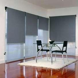 Tirai kantor roller blind blackout murah jakarta