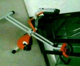 orange white bike sandaran with pegangan samping Baru