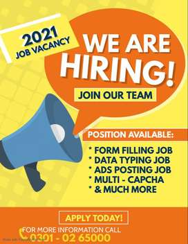 : We want qualified students in our team for online Data Entry job hom