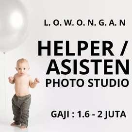 Lowongan HELPER / ASISTEN PHOTO STUDIO / BIDAN / BABY SITTER