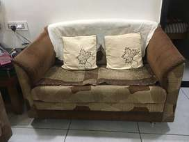 2 seater sofa with cution