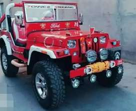Modified new red willy jeep