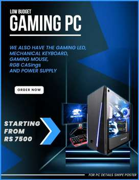 gaming pc brand new for low budget people