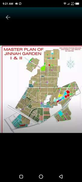 Jinnah garden Jinnah garden investor rate plot for sale