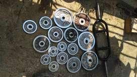Barbel / dumbell, barbel total nya 40 kg sm stick