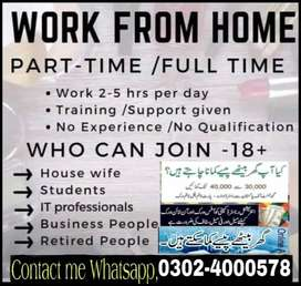 Part time,full time, home base(Students/Teachers)Male and females