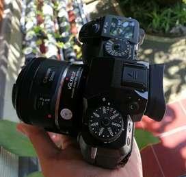 xh1 plus vg plus lensa 50mm stm plus adapter viltrox fx2