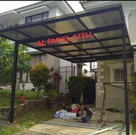 Kanopi solarflat canopy solarflat murah bahan awet kualitas terjamin