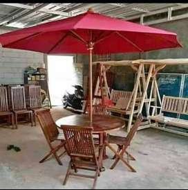 Meja taman,meja cafe,meja outdoor,kursi taman,meja payung jati