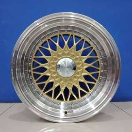 Cicil Velg Mobil Jazz Livina DP 10% Ring 16x8-9 HSR RS H4X100-114,3