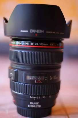 Canon 24 to 105 lens 2 year's old working perfect condition